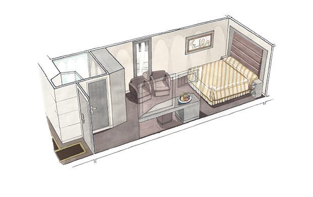 MSC Yacht Club Interior Suite2 SEAVIEW