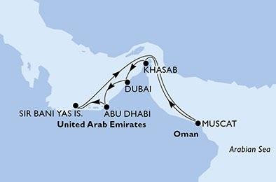 کشتی کروز Lirica خلیج فارس